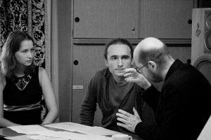Yuri Akbalkan with Klaus Lang and Lidia Ader